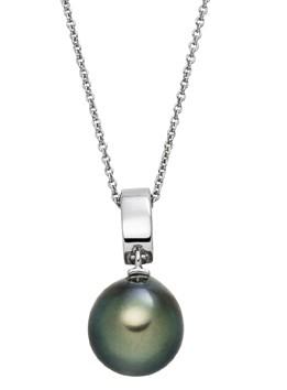Perlenkette mit Anhänger Tahiti 10-11 mm