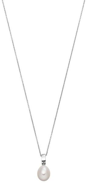 Perlenkette mit Anhänger Süßwasser 10-11 mm