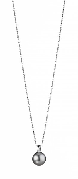 Perlenkette Tahiti schwarz Tropfen 12-13 mm Silber rhodiniert 90 cm