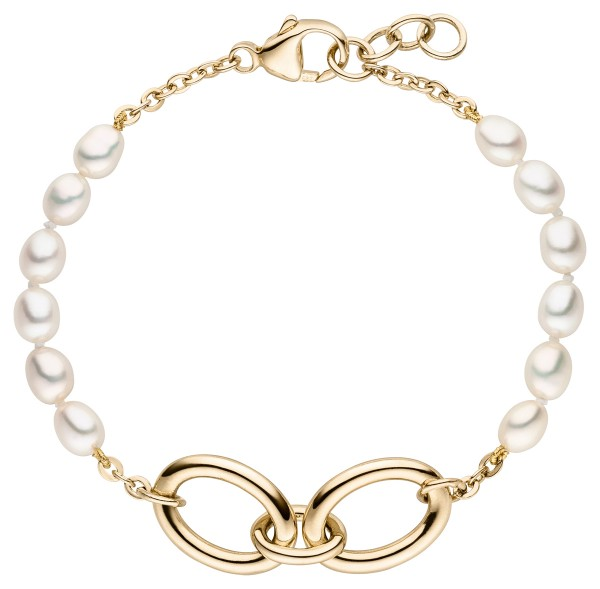 Perlenarmband Silber vergoldet Süßwasser 4-5 mm
