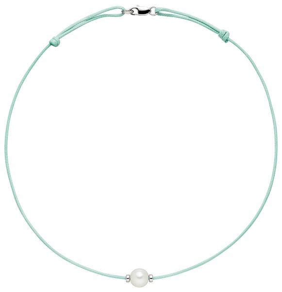 Perlenkette türkis Süßwasser 8-9 mm