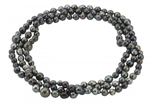 Perlenkette Tahiti barock multicolor 8-14 mm endlos 160 cm